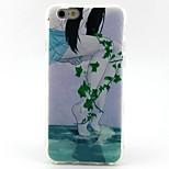 hojas verdes caso de las marcas de teléfonos populares engrosamiento patrón de TPU para el iPhone 6 / 6s / 6plus / 6splus