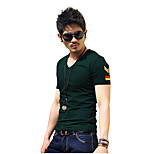 Outdoor Men's T-shirt Leisure Sports / Cycling/Bike / Running Breathable / Sweat-wicking / Wicking SummerCoffee