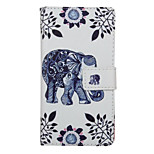 Walking Elephant Pattern PU Leather Full Body Cover with Stand for Huawei Ascend P9