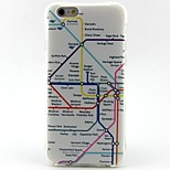 Map Pattern thickening TPU Popular Brands Phone Case for iPhone 6/6s/6plus/6splus