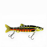 Mmlong Fishing Lures 6# Hook 9 Segment Crankbait Lifelike Slow Sink Swimbait Fishing Trackle Hard Lure  MML12A