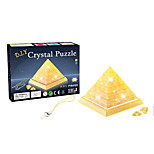 Small 3D Crystal Pyramid Blocks Puzzle Diy Creative Educational Toys Small Children Toys