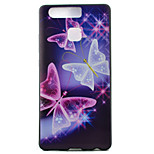 Butterfly Watch Black Edging Soft TPU Phone Case for Huawei Ascend P9/P9 Lite