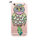 Lovely Owls Style Pattern Soft TPU Phone Case for iPhone 6/6s/6 Plus/6s Plus
