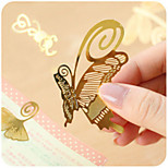 1PC Exquisite mini metal bookmark animal school supplies, China Wind creative minimalist Bookmarks(Style random)