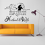 Wall Stickers Words & Quotes / Romance / Fashion / Shapes Wall Stickers Plane Wall Stickers,vinyl 58*46cm