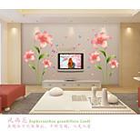 Романтика / Мода / Цветы Наклейки Простые наклейки,pvc 60*90cm