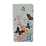 Butterfly Pattern PU Leather Flip Case with Magnetic Snap and Card Slot for Microsoft Lumia 540