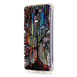 Luxury Brushed TPU Colorful Tree Pattern The Drill Phone Shell Drop Resistance for LG K7