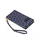 nouvelle triangulaire portefeuille en treillis pu cuir flip support holster cas de téléphone pour iphone 6 plus / 6s plus (couleurs