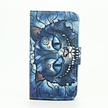 Bule Cat Pattern Wallet Leather Stand Cover Case for Wiko Sunset2