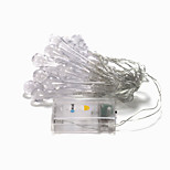 BRELONG 20-LED 2m Outdoor Christmas Holiday Decoration Warm White String Light (DC4.5V)