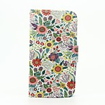 Chrysanthemum Indicum Pattern Wallet Leather Stand Cover Case for Wiko Sunset2