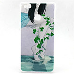 Green Leaves Pattern TPU Material Phone Case for  Huawei  P8 Lite/P9 Lite/G8