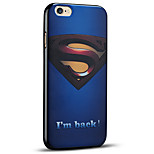 Embossed Superman Protective Back Cover Soft iPhone Case for iPhone 6S Plus/iPhone 6 Plus