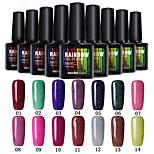 Modelones Beauty 10ml Colorful Rainbow Neon Gel Polish Nail Varnish Manicure Tool 28 Colors