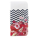 Para Funda iPhone 6 / Funda iPhone 6 Plus / Funda iPhone 5 Cartera / Soporte de Coche / con Soporte Funda Cuerpo Entero Funda Flor Dura