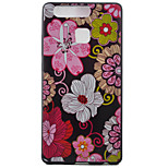 Flowers Watch Black Edging Soft TPU Phone Case for Huawei Ascend P9/P9 Lite