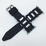 Durable Soft Rubber Watchband Replacement Silicone Strap For Apple Watch 38mm 42mm iWatch Link Bracelet