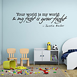 Words & Quotes Wall Stickers Plane Wall Stickers,vinyl 58*15cm