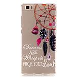 Transparent Colored Campanula Pattern TPU Soft Case Phone Case For Huawei P8 Lite