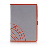 voor Apple iPad mini 3/2/1 ipad 5 retro canvas slimme pu lederen case cover met draagriem stand