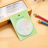 Floral Circular Self-Stick Note(1 PCS Random Color)