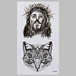 Fashion Tattoo  Fox And God Waterproof Tattoo Stickers