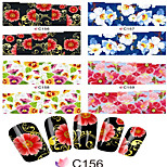 1pcs  Nail Art Water Transfer Stickers Beautiful Flower Image C156-163