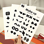 A Set DIY Make Up Whimsy Wall Stickers Home Decor Toilet Cup Post Switch Decals (Style random)