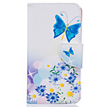 Blue Butterfly Pattern Card Phone Cover For LG K7/K10