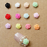 Lovely ABS 5mm 12Types Resin Nail Jewelry  (10 PCS)