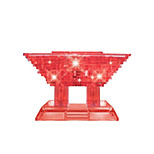 Diy 3D Crystal Small Pavilion Building Blocks Puzzle Children Educational Toys Creative Small Ornament  Without Light