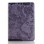 Retro style Map Prints PU leather Flip Hard Cover Tablet Case For iPad Mini 3/2/1 Smart Stand Protective Case