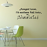 Words & Quotes  Wall Stickers Romance / Fashion / Shapes Wall Stickers Plane Wall Stickers,vinyl 58*24cm