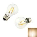 YouOKLight® 2PCS E27 4xCOB 4W 320LM  Warm White3000K Globe Bulbs Edison LED Filament Light(220-240V)