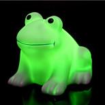 créatif coloré heureux grenouille conduit nuit lumière de couleur changeante