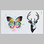 Fashion Tattoo Butterfly And  Deer Waterproof Tattoo Stickers