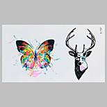 Mode Tattoo Schmetterling und Rotwild wasserdicht Tattoo-Aufkleber