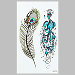 Fashion Tattoo Peacock Feather Waterproof Tattoo Stickers