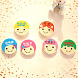 4PCS Cartoon Rubber Encourage Students Praise Color Round Eraser Wholesale Creative Stationery Gifts(Style Random)