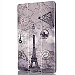 7.9 Inch Triple Folding Pattern Colour Printing PU Leather for iPad Mini 4(Assorted Colors)