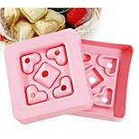 Innovative DIY Mini Heart-shaped Sandwich Maker,Random Color