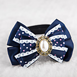 Cat / Dog Collars Adjustable/Retractable / Cute and Cuddly / Bowknot Red / Blue Textile