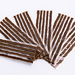 Bike Motorcycle Car Tubeless Tire Quick Repair Strips - Brown (30PCS)