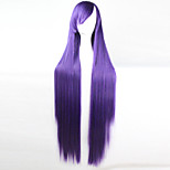 Anime Cosplay Wig Purple 100 CM Long Straight Hair High Temperature Wire