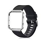 classic silicone vervangende band met metalen frame case voor Fitbit blaze klein (5,5-6,7 in)