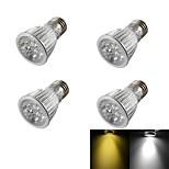 YouOKLight® 4PCS E27 5W Dimmable 5-LED Spotlight Warm White/Cold White 400lm  (AC110~120V/220-240V/85-265V)