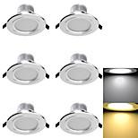 YouOKLight® 6PCS 3W CRI>70 300LM  6-SMD5730 Warm White  Cold White  LED Downlights (AC110-120V/220-240V/85~265V)