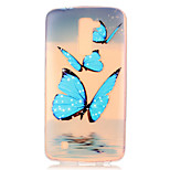 Blue Butterfly Pattern Embossed TPU Case for LG K7/ K10